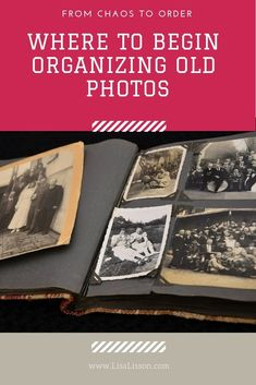 Tips on where to begin organizing your old family photos and go from chaos to order. Where does a genealogy researcher begin organizing old photos? Go from chaos to order and keep precious family photos easy to find! Old Family Photos, Family Photo Album, Old Photos, Display Family Photos, Family Pictures, Photo Memories, Family Memories, Photos Vintage, Vintage Photo Album
