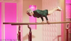 Here's your daily inspiration: Johanna Quaas, 86 years young, showing strength and grace on the parallel bars. Her performance earned her a spot in the Guinness Book of Records. Congrats, Johanna!