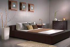 Dormitorio minimalista japonés.