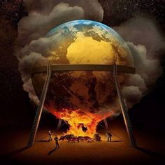 Dark Art Paintings, Oil Rig Jobs, Libros Pop-up, The Dark Side, Watch The World Burn, World On Fire, Photo D Art, Fire Art, Cultural