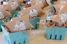 Favors: Favors were housed in berry baskets from Etsy's Pick Fair.