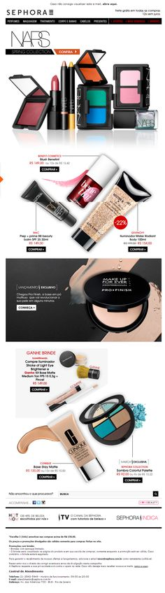 Have noticed Sephora does great EDM. Cutting it up, great usage of bold and fonts, and easy to understand concept. Newsletter Layout, Email Newsletter Design, Email Layout, Email Marketing Design, E-mail Marketing, Food Web Design, Web Design Examples, Email Design Inspiration, Sephora