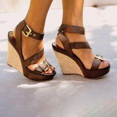 7c4af235a1c0 Women Platform Open Toe Wedge Sandals Casual Comfort Adjustable Buckle Shoes