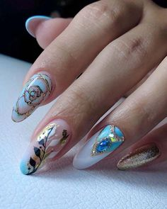 36 Pinterest Nails Wedding Ideas You Will Like ❤ pinterest nails wedding white blue with flowers tatjana_ost #weddingforward #wedding #bride #pinterestnails #weddingnails Wedding Looks, Perfect Wedding, Wedding White, Dream Wedding, Wedding Day, Pinterest Nail Ideas, Sophisticated Nails, Simple Nail Designs, Wedding Nails