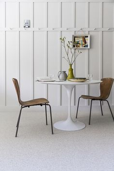 Stark, bright, white, and neutral. Just don't spill anything on it! Neutral coloured carpet from: www.michael-john.co.uk