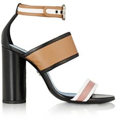 Lanvin Women's Colorblocked Ankle-Strap Sandals ($950) ❤ liked on Polyvore featuring shoes, sandals, heels, nude, open toe sandals, nude shoes, colorful sandals, nude sandals and ankle strap high heel sandals