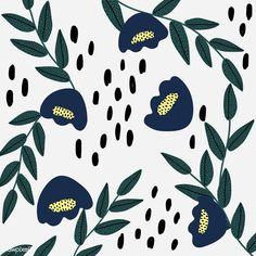 Blue tulip patterned white background vector | premium image by rawpixel.com / Sicha Iphone Background Wallpaper, Heart Wallpaper, Geometric Patterns, Floral Patterns, Retro Flowers, White Flowers, Cute Illustration, Digital Illustration, Tulip Drawing