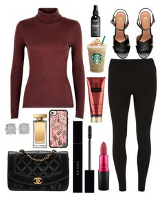 """Untitled #12805"" by ohnadine on Polyvore featuring Chanel, Gucci, Dorothy Perkins, MAC Cosmetics, Casetify, Victoria's Secret, H&M, Dolce&Gabbana and NYX"