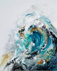Big Summer Wave, 2010  By Maggi Hambling