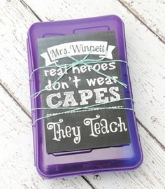 Real Heroes Teach {Gift Box and Printable} - Happy-Go-Lucky