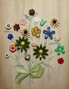 button bouquet - that's a green Colt tulip