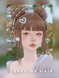 ✿Roli Cannoli CC Findz Corner✿ — Josephine hair Sims Four, Sims 4 Mm Cc, Sims 4 Mods Clothes, Sims 4 Clothing, Sims 4 Cas Mods, Sims 4 Anime, Sims 4 Traits, Pelo Sims, Animal Crossing