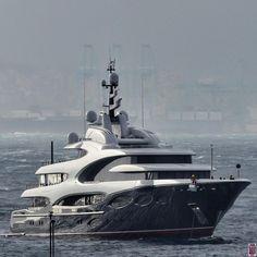 Oceanco 88.5m superyacht Barbara arriving to Gibraltar