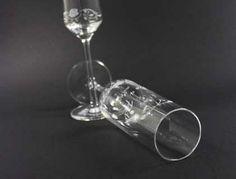Individuelle lasergravierte Sektgläser für Hochzeiten und andere Feiern Special Events, Appliques, Corning Glass
