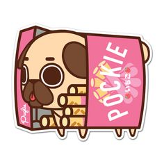 "Puglie strawberry pocky (3"" die cut)"