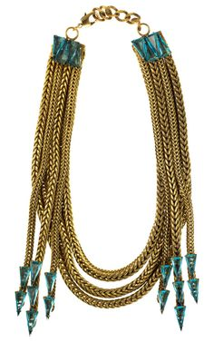 Necklace by Nicole Romano, whose jewelry is made in the U.S.A. using 30% recycled metals.