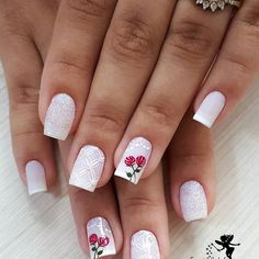 Ahhh as unhas branquinhas😍❤ Ballerina Nails, Material Girls, Color Of The Year, Gorgeous Nails, Nail Trends, Pink Nails, Nail Care, Essie, Nail Colors