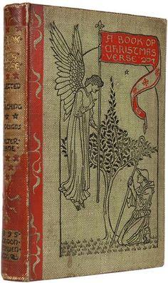 A Book of Christmas Verse   (Walter Crane illust)  1895