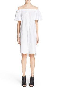 Vince Off the Shoulder Cotton Dress