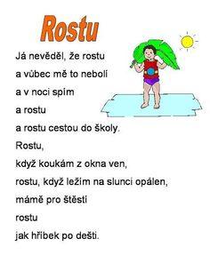 básničky pro děti - Hledat Googlem Health Activities, Activities For Kids, Human Body, Preschool, Coding, Humor, Education, Retro, Learning