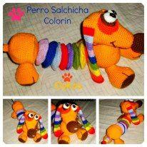 Perro Salchicha Colorin Crochet, Dachshund Dog, Felting, Dogs, Amigurumi, Ganchillo, Crocheting, Knits, Chrochet