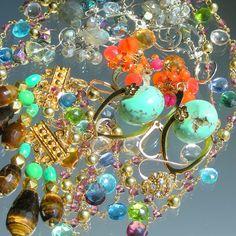 Swirling gemstones