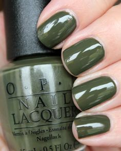 OPI Suzi - The First Lady of Nails   NAILTASTIC   Bloglovin' / OPI Suzi - The First Lady of Nails is a army green creme