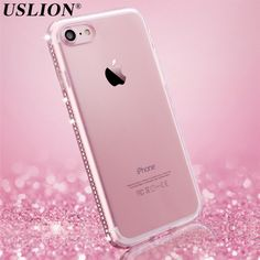 >> Click to Buy << Luxury Phone Case For iPhone 5s 6 6s Plus 7 7 Plus Glitter Bling Diamond Transparent Soft TPU Mobile Phone Case Back Cover Bags #Affiliate