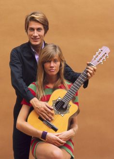 Françoise Hardy and Jacques Dutronc by Jean-Marie Périer, 1967