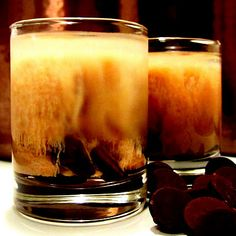 DARK Chocolate + Booze = Liquid MAGIC in a Shot Glass!! BOTTOMS UP!!