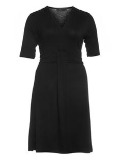 Jersey dress with waistband in Black designed by Wico to find in Category Dresses at navabi.de