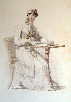 1813 Ackermann Regency Morning Dress - Jane Austen