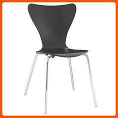 Modway Ernie Dining Side Chair in Black - Improve your home (*Amazon Partner-Link)