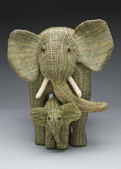 macrame elephants