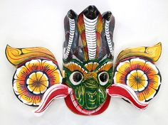 #Traditional #Sri-Lanka #mask #Gara #Yaka #Raksha #Handmade