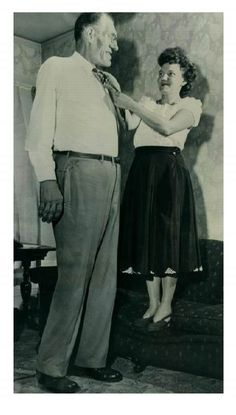 Clifford Marshall Thompson was one of the world's tallest men, and remains the tallest man to ever appear in a Hollywood film. Although born in Rugby, North Dakota, as a child Thompson moved with his parents to Scandinavia, Wisconsin. Wikipedia