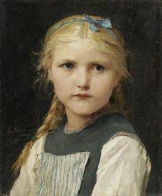 Albert Anker Portrait of a girl 1885