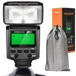 Neewer NW610 Flash Manuel avec Ecran LCD pour Canon Nikon Panasonic Olympus Pentax avec Sabot Standard et Caméra Sony avec Nouvelle Sabot…