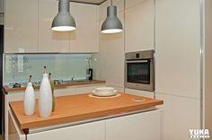 Mobila viitorului | YUKA MOBILI Yukata, Kitchen Island, Ceiling Lights, Lighting, Pendant, Interior, Home Decor, Island Kitchen, Decoration Home