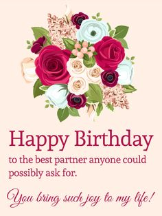 On Your Partners Birthday Express Appreciation For All The Wonder And Delight That They Bring To You Romantic CardsBirthday