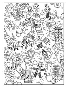 Sock Monkey Business ~ Fanciful Fashions Coloring Book: Marjorie Sarnat