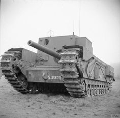 """British tank destroyer on the basis of the tank """"Churchill"""", 25 March 1943"""