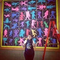 This is from when we studied Keith Haring! Had a really fun time gettin...
