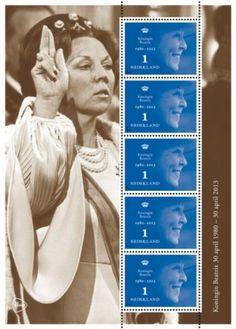 troonswisselings postzegels