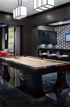 43 Billiard Room Design Ideas | Sebring Design Build Basement Lighting, Pool Table Lighting, Billiard Pool Table, Billiard Room, Game Room Basement, Basement Ideas, Antique Pool Tables, Finished Basement Designs, Pool Table Room