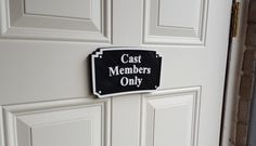 Walt Disney World MGM Inspired Cast Members Only Plaque / Sign Replica - Dual Black / White Color- $33.99 Perfect for any Disney fan to add to their collection. Bring a little bit of the Happiest Place on Earth to your home.