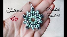 Twin (superduo) beads pendant - tutorial - YouTube