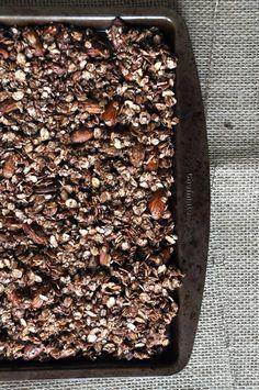 Simple Chocolate Granola - so healthy and delicious.