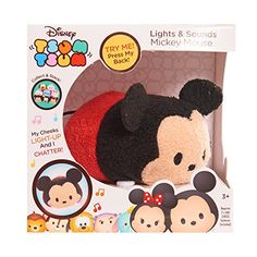 These things are fantastic! You barely touch them and they are activated. Their cheeks light up and they make noise. Very, very light touch works!  Disney Tsum Tsum Lights & Sounds Mickey Plush Just Play https://www.amazon.com/dp/B0199R4ZSW/ref=cm_sw_r_pi_dp_x_tt4tybAKF5HVA