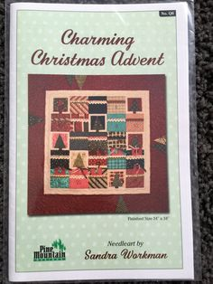 Charming Christmas Advent Wall Quilt Pattern 34 x 34: by Vntgfindz